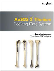 AxSOS 3 Ti Tibia Locking Plate System operative technique