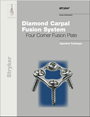Diamond Carpal Fusion System Four Corner Fusion Plate operative technique