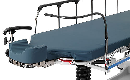 Close-up of Stryker's Eye Surgery Stretcher showing the flexible air delivery tube