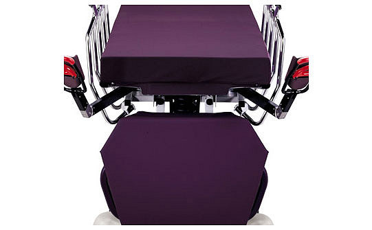 Close-up of the Ultra Comfort Mattress on Stryker's Gynnie Stretcher