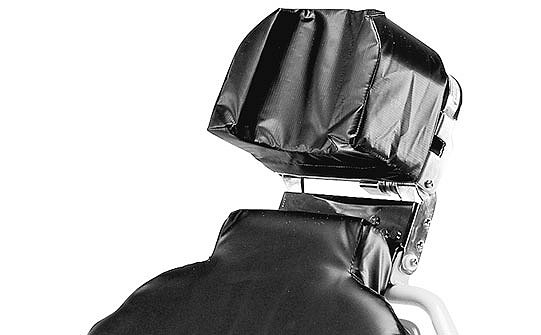 Close-up of Stryker's Eye Stretcher Chair's headpiece