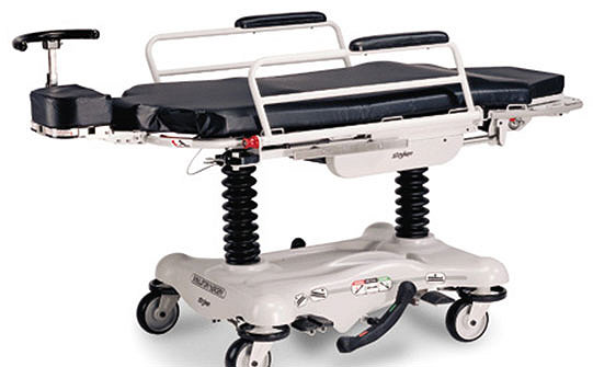 Stryker's Stretcher Chair in the flat position
