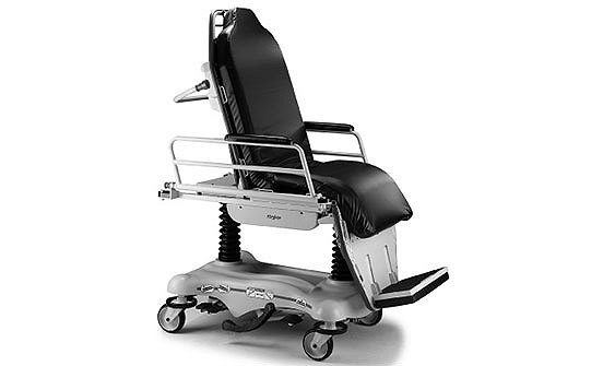 Stryker's Stretcher Chair in a seated position
