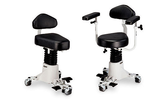 Optional armrests on Stryker's Surgistool Chair