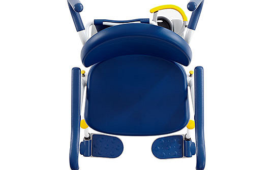 Birds-eye-view of Stryker's Prime TC Transport Chair