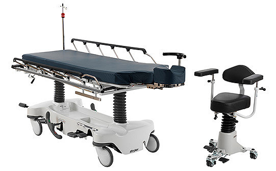 Stryker's Eye Surgery Stretcher and Surgistool Chair