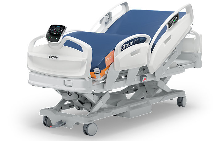 360 degree animation of Stryker's ProCuity bed