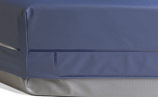 Close-up of the welded seams on Stryker's ComfortGel SE support surface