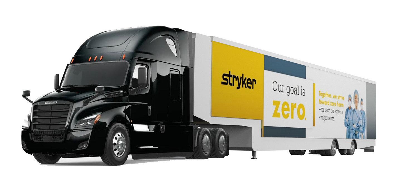 Stryker mobile trailer truck