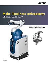 Mako Total Knee arthroplasty clinical evidence - MAKTKA-BRO-7