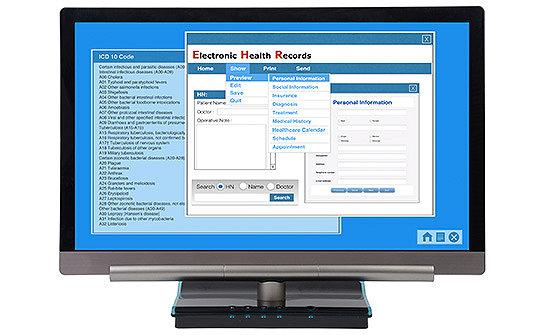 Screenshot of an Electronic Health Record on a desktop computer