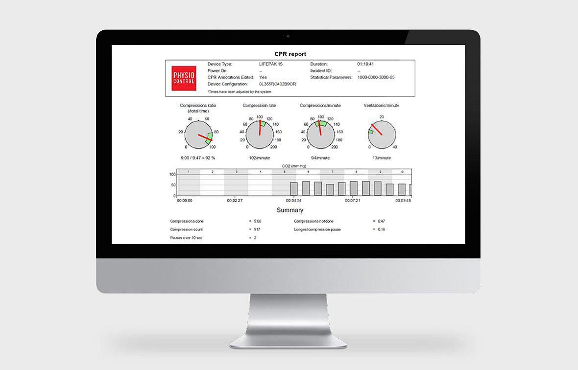 El software de revisión de datos CODE-STAT en la pantalla de un ordenador